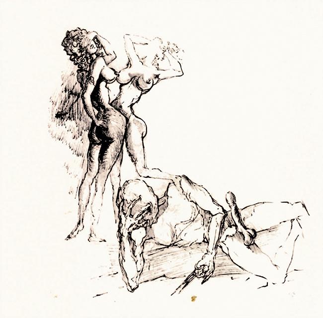 Salvador Dalí, Disegno erotico, 1931