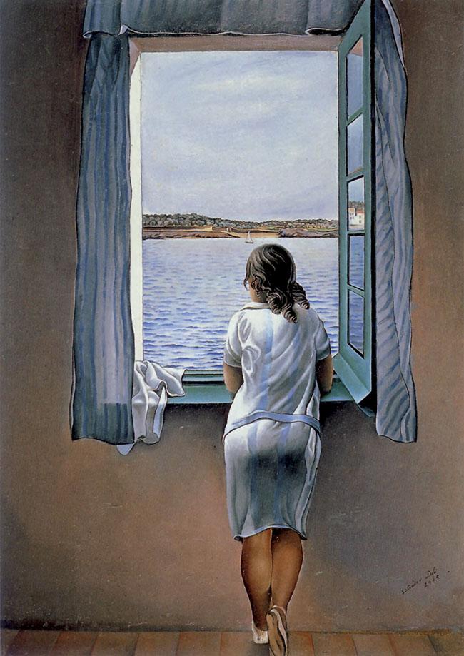 Salvador Dalì, Figura a una finestra,  olio su cartone, 105x74,5 cm, 1925
