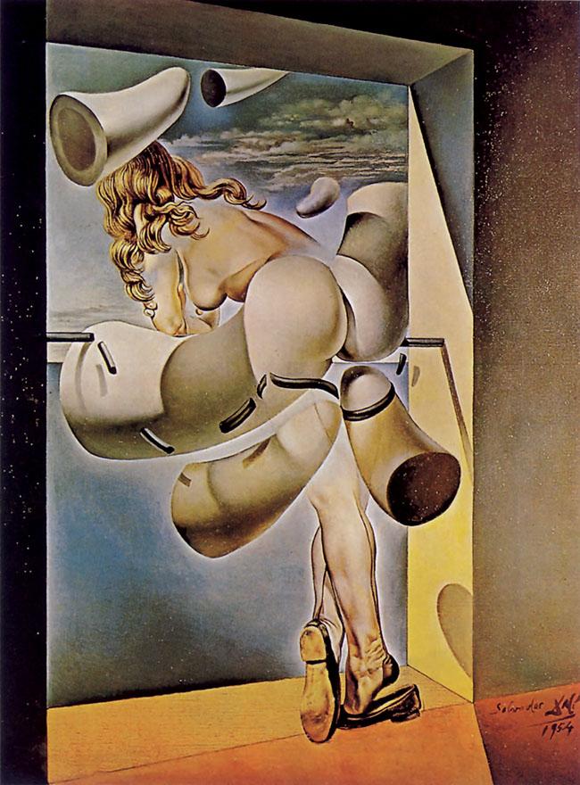 Salvador Dalí, Giovane vergine autosodomizzata dalle corna  della sua stessa castità, 1954