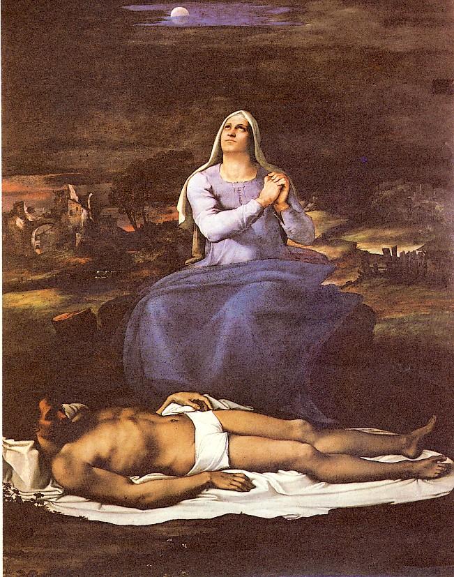 Sebastiano del Piombo, Pietà, 1516-17 ca., olio su tela, 187 x 247 cm, Viterbo, Museo Civico