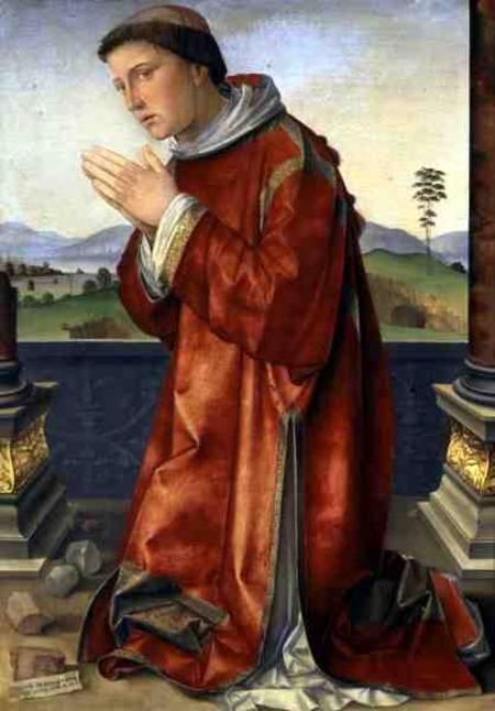 Francesco Francia, santo Stefano Martire, olio su tavola, Roma Galleria Borghese
