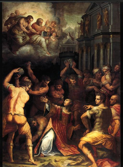 Giorgio Vasari, Martirio di Santo Stefano, olio su tela, Pisa, Chiesa di santo Stefano