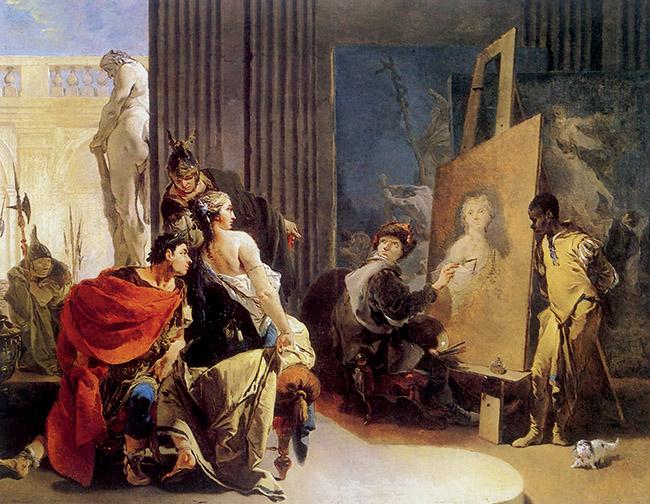 Giambattista Tiepolo, Alessandro e Campaspe nello studio di Apelle