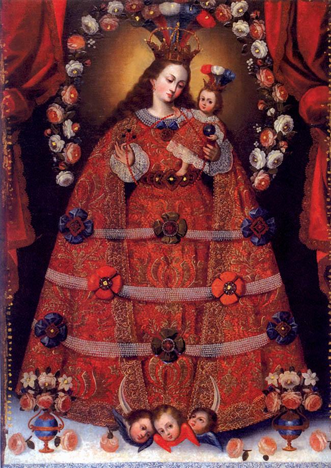 Anonimo della Scuola di Cusco, Madonna del Rosario di Pomata