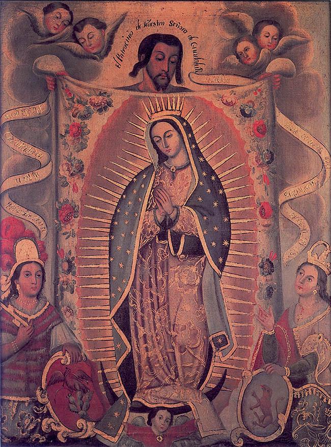 Anonimo novoispano, Il patrocinio di Nostra Signora di Guadalupe