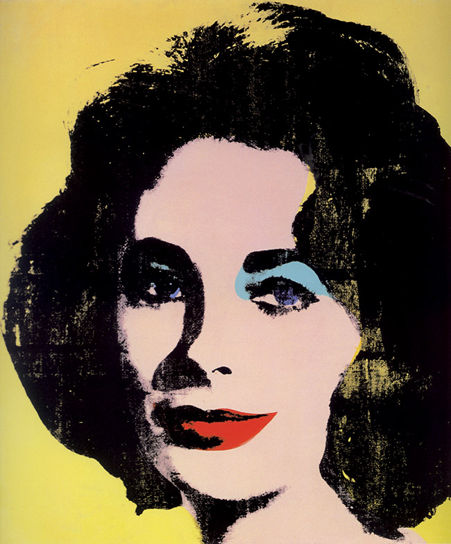 Andy Warhol, Early colored Liz