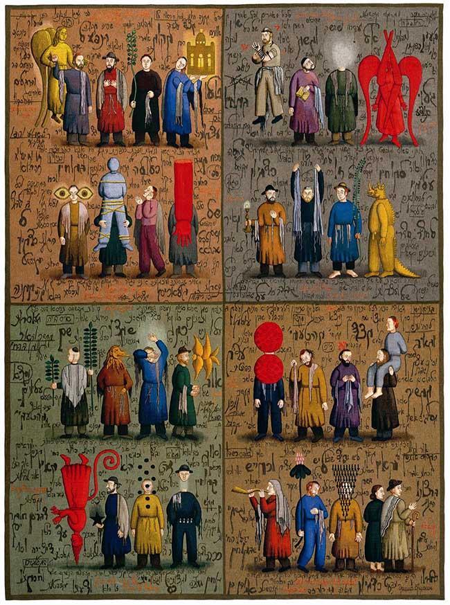 Grisha Bruskin: Alefbet. Parte 1, 2004-2006, arazzo, 280x210