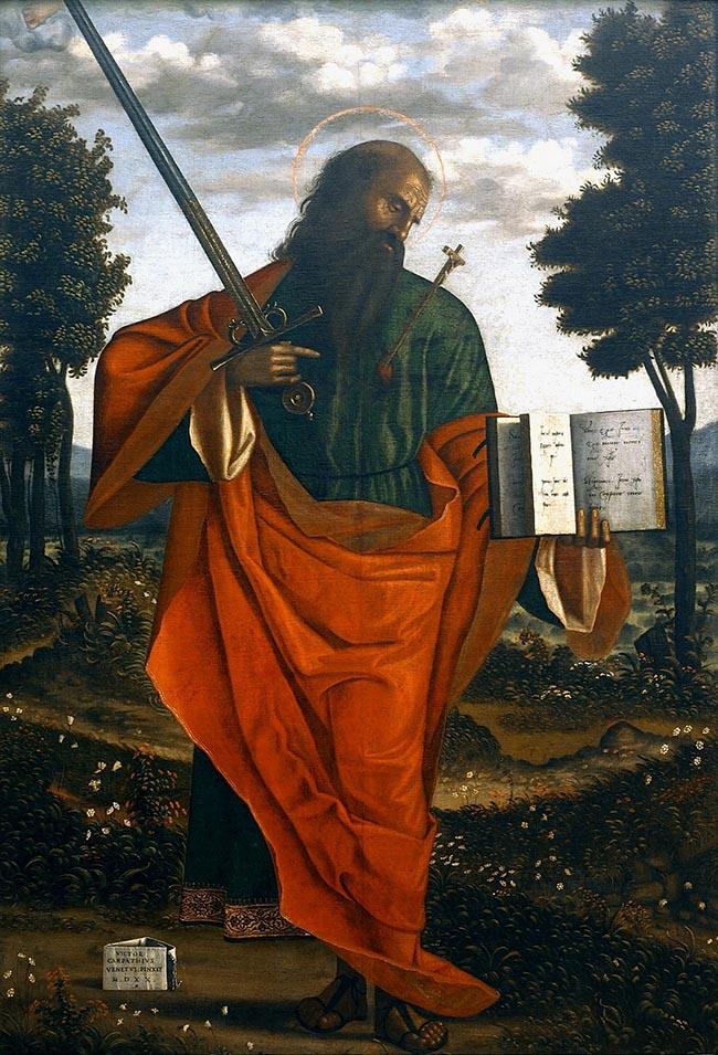 Vittore Carpaccio, San Paolo apostolo 1520 Chiesa di San Domenico, Chioggia