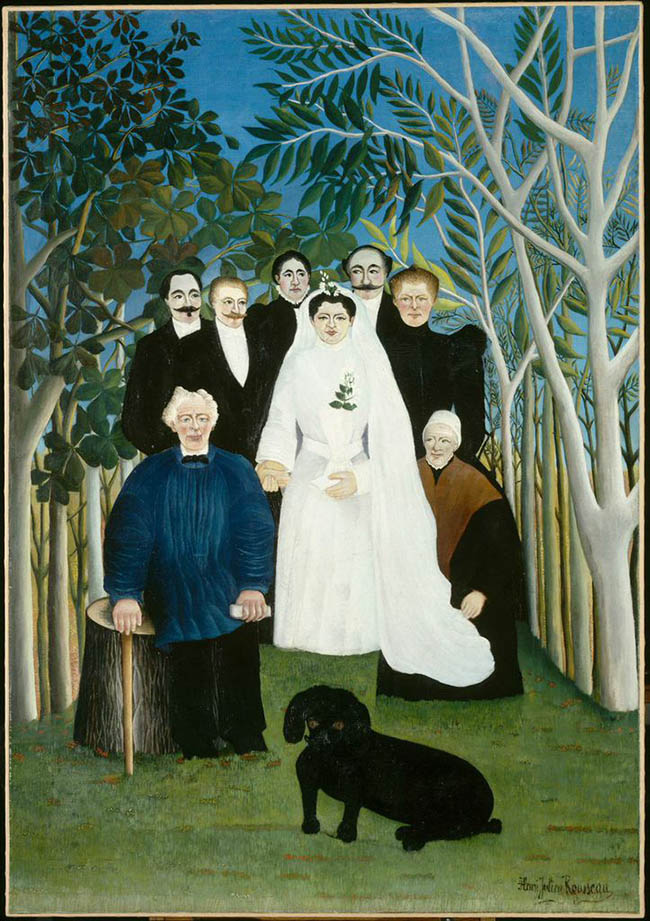Henri Rousseau, La Noce/ Nozze in campagna,   1905 olio su tela, cm 163 x 114 Parigi, Musée de l'Orangerie, Collection J. Walter‐ P. Guillaume   © RMN‐Grand Palais (Musée d'Orsay)/Hervé Lewandowski