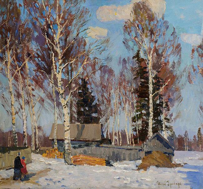Igor' Grabar': Paesaggio invernale, 1940-1950, 46,5х50
