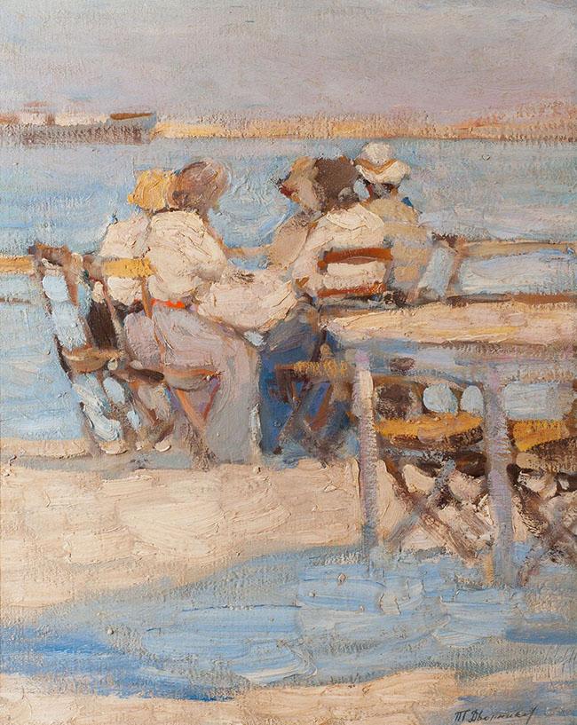 Tit Dvornikov: Al mare, 1912 circa, 61x50
