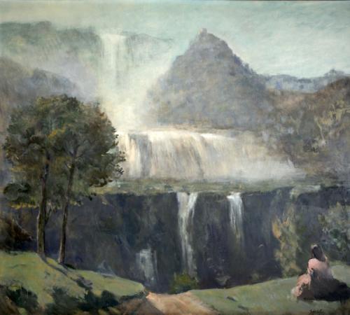 AMERIGO BARTOLI, Cascata delle Marmore, 1966, olio su tavola, 166 x 188 cm, Terni, Fondazione Carit