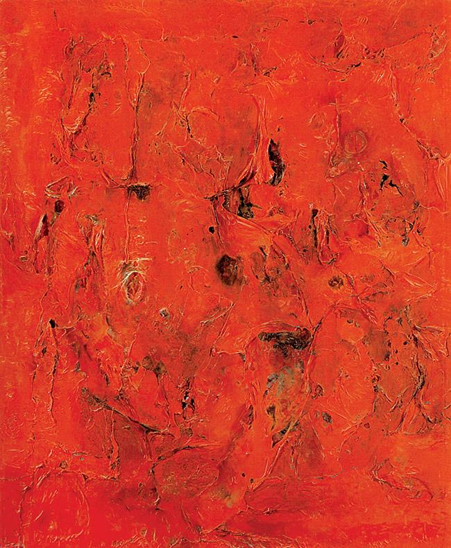Alberto Burri, Rosso plastica