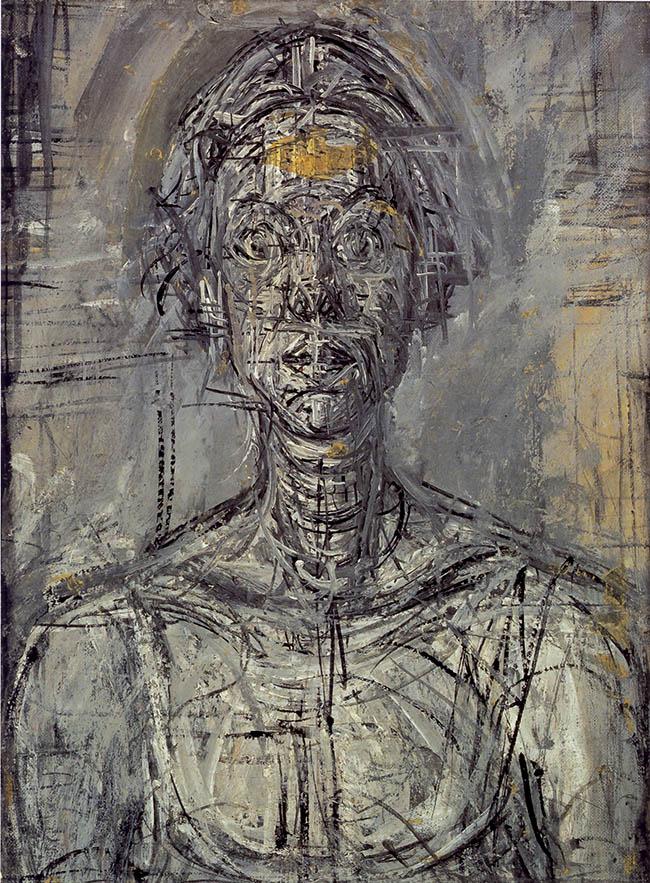 Giacometti, Busto d'Annette, olio su tela, 1954