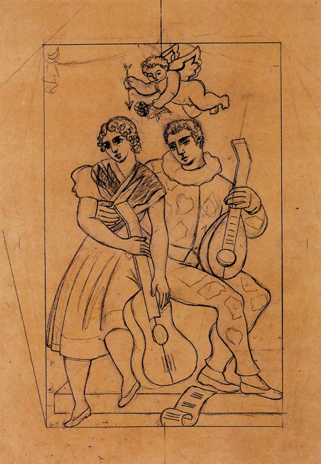Severini, Les amours d'Arlequin, 1928-30