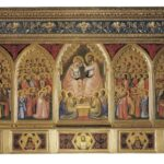 Giotto, l'Italia. Da Assisi a Milano.jpg Giotto  Polittico Baroncelli, 1328 ca.  Tempera su tavola  Firenze, Basilica di Santa Croce  Proprietà Fondo Edifici di Culto del Ministero dell'Interno  Archivio fotografico dell'Opera di Santa Croce