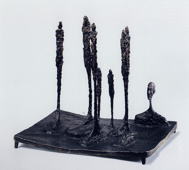 La foresta (Piazza, sette figure, una testa), bronzo, 1950