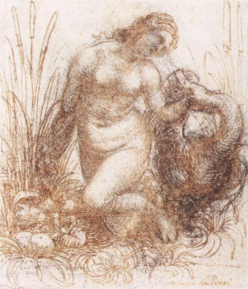 Leonardo da Vinci, Studio per Leda e il cigno