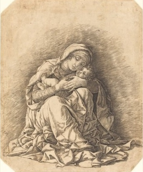 ANDREA MANTEGNA, Madonna dell'Umiltà, 1490 ca., bulino, 27, 7 x 23, 1 cm, Washington, National Gallery of Art