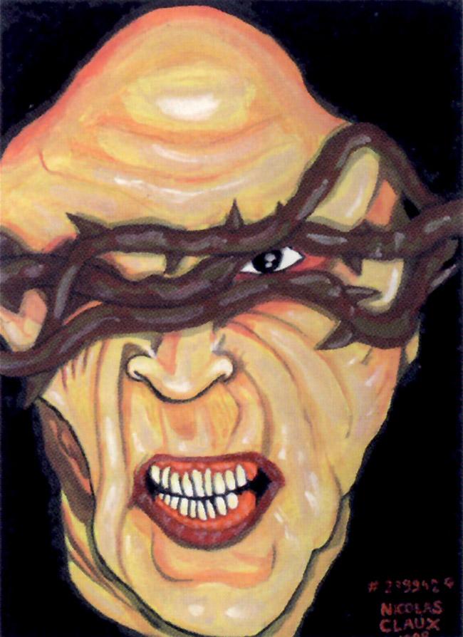Due quadri di Nicholas Claux, serial killer