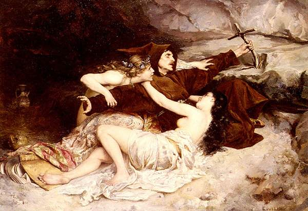 Louis-Leloir,-(1843-1884), La tentazione di Sant'Antonio