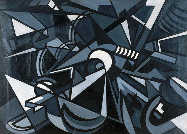 Emilio Vedova, L'urto, 1949-1950, olio su tela, 95x130 cm, Courtesy Museo MA*GA