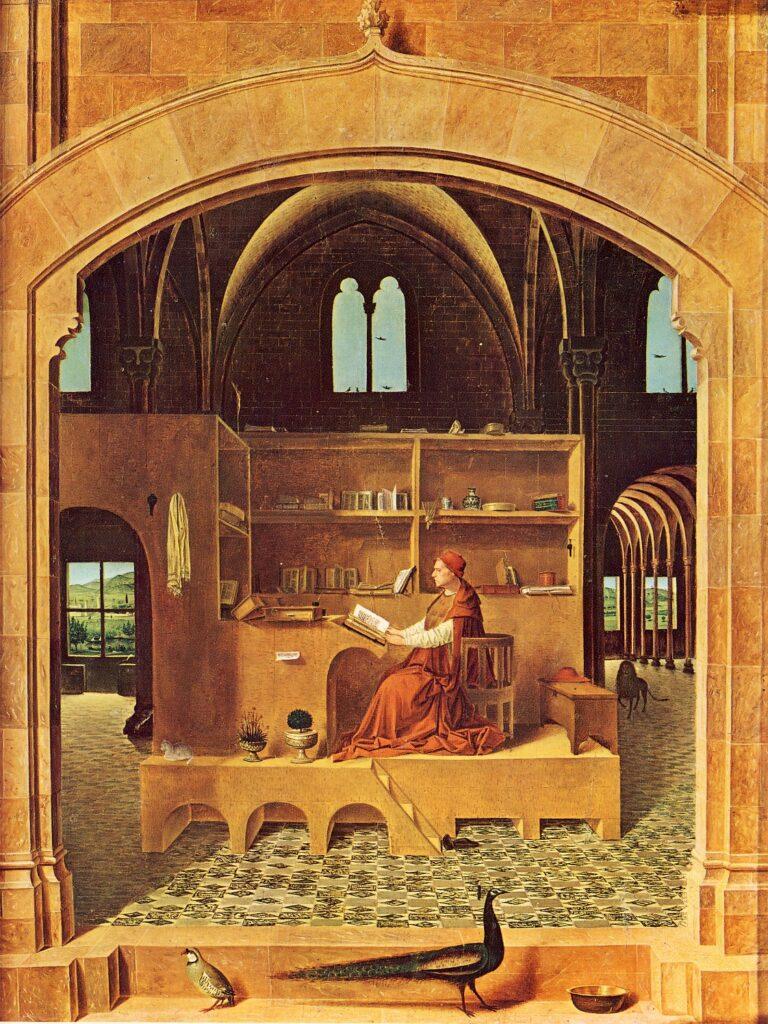 ANTONELLO DA MESSINA, San Gerolamo nello studio, 1474, olio su tavola, 46 x 36,5 cm, Londra, National Gallery