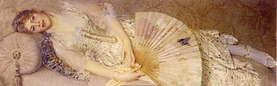 FIDELFO SIMI, Bice o iridescenza di una perla, 1895, olio su tela, 60 x 168 cm, Firenze, Galleria d'arte Moderna di Palazzo Pitti