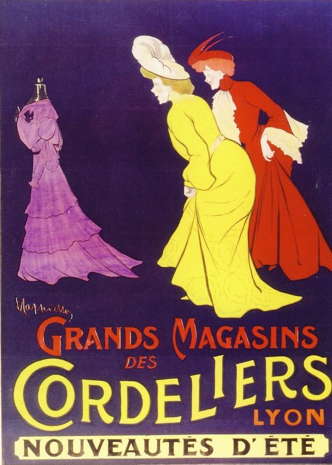LEONETTO CAPPIELLO, Grands Magasins des Cordeliers, 1904, litografia su carta, 160 x 120 cm, Treviso, Musei Civici