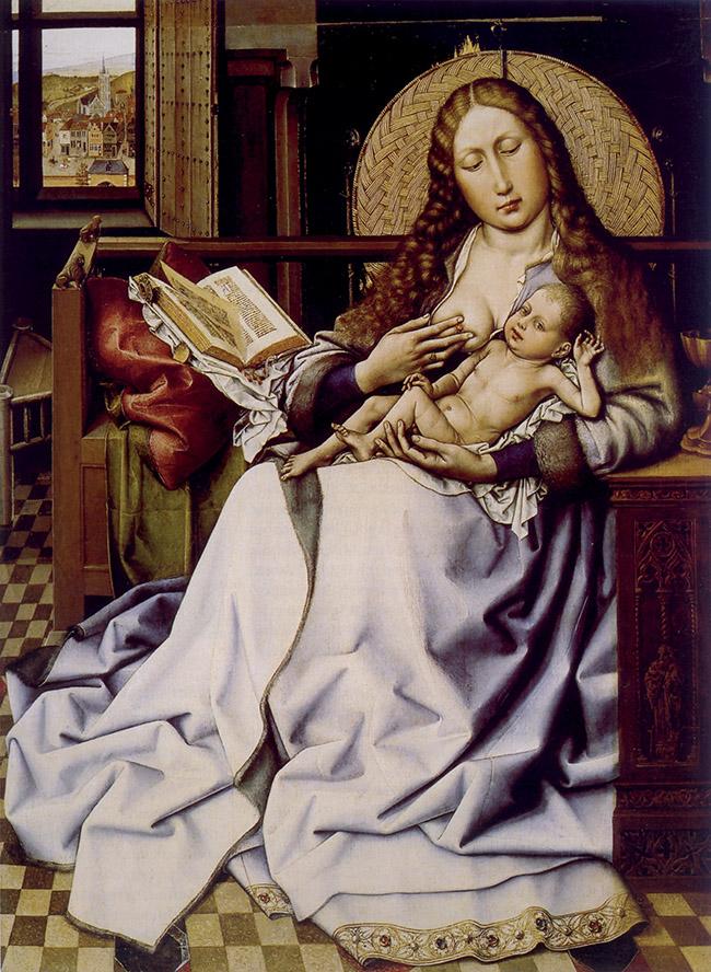 Robert Campin (Maestro di Flémalle?), Madonna Salting, 1430 circa