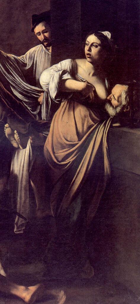 Caravaggio, Sette opere di misericordia, particolare