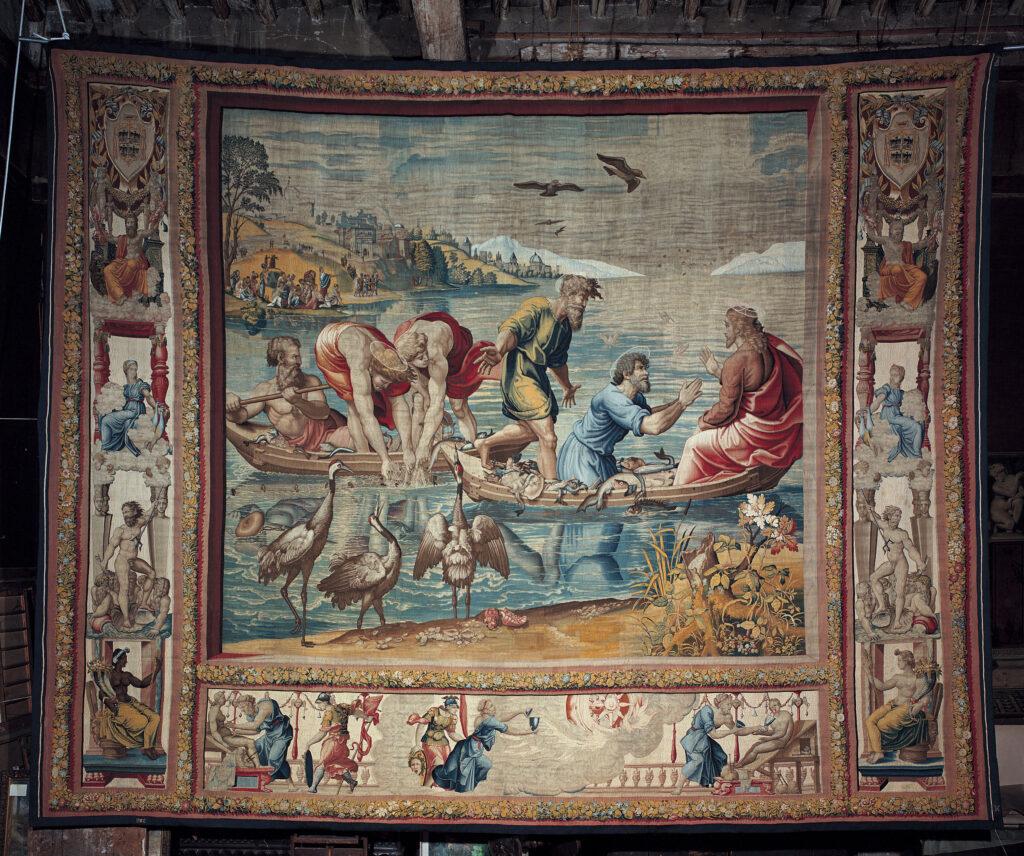 cartone arazzo Palazzo Ducale, Pesca miracolosa