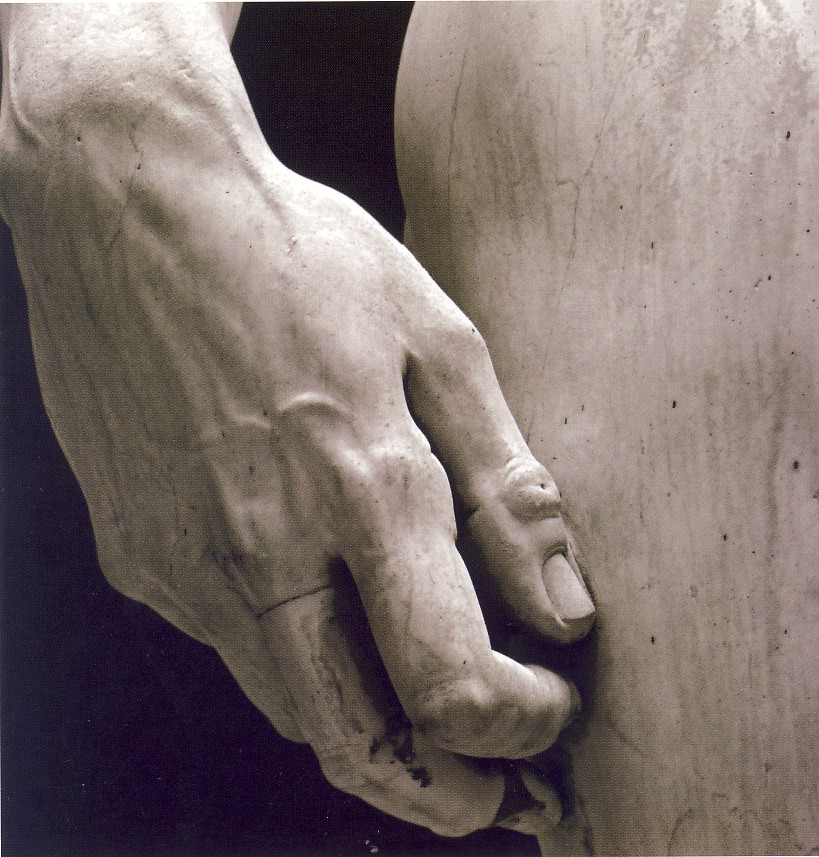 Michelangelo Buonarroti, David (part.), 1501-04, marmo, h.410 cm, Firenze, Galleria dell'Accademia