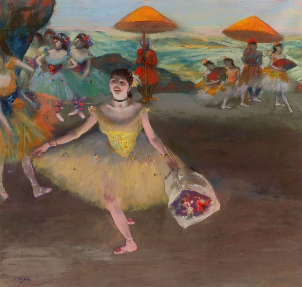 edgar degas-balletto visto da un palco dell opera