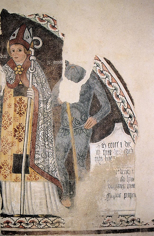Benna (Biella), oratorio di Santa Maria delle Grazie, dipinto di Gaspare da Ponderano