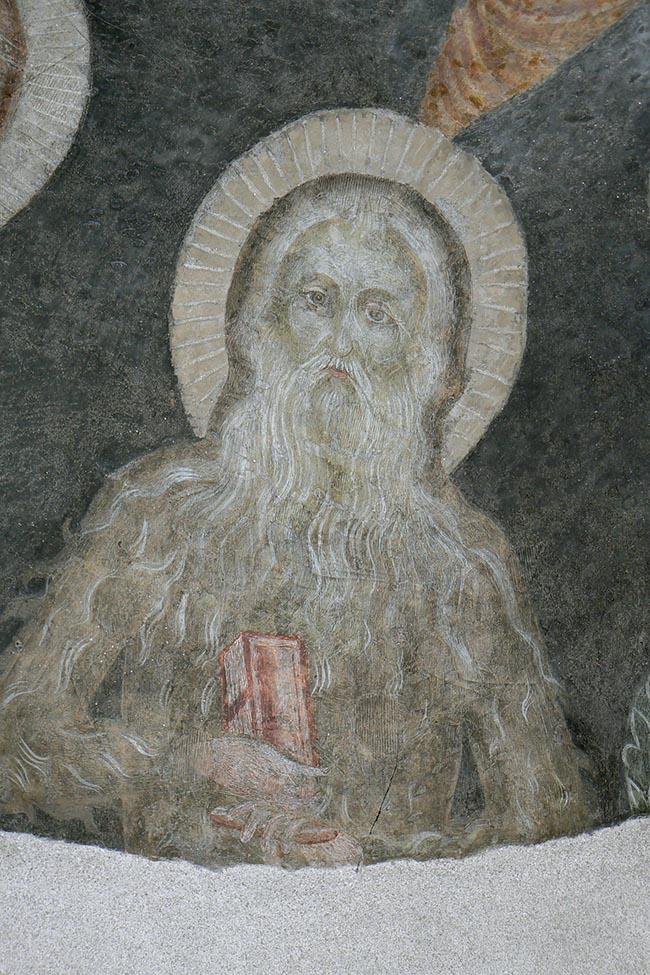 Oropa, sacello della Basilica antica, dipinto del Maestro di Oropa