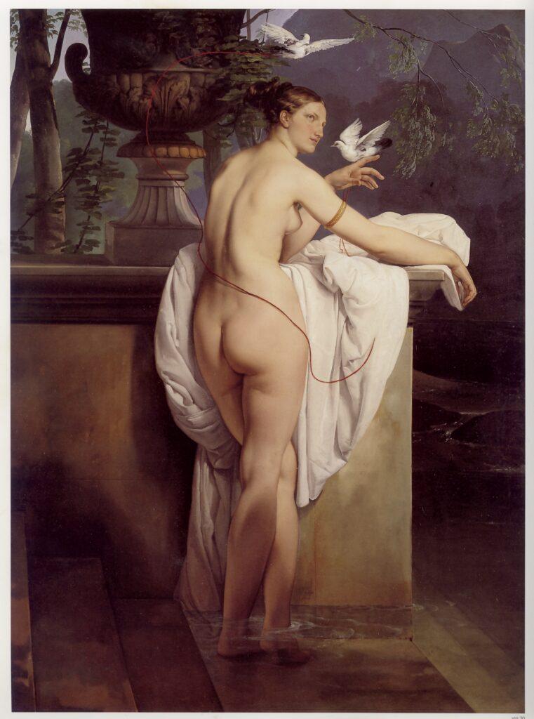 francesco hayez-venere che scherza con due colombe-ritratto della ballerina carlotta chabert