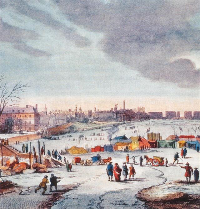 Diverse edizioni della Fiera del freddo sul Tamigi