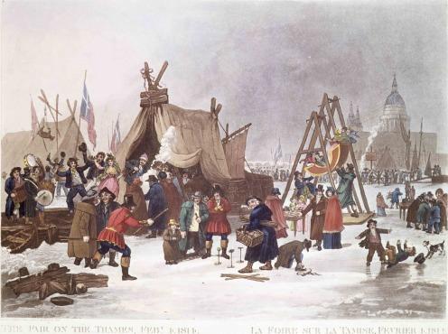 freddo Gelo Fiera sul fiume Tamigi, 1814.