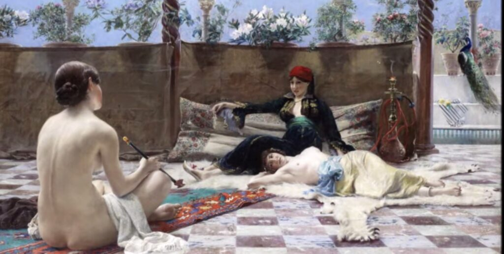 Ferdinand Max Bredt, Donne turche, 1893, olio su tela, 60x100 cm