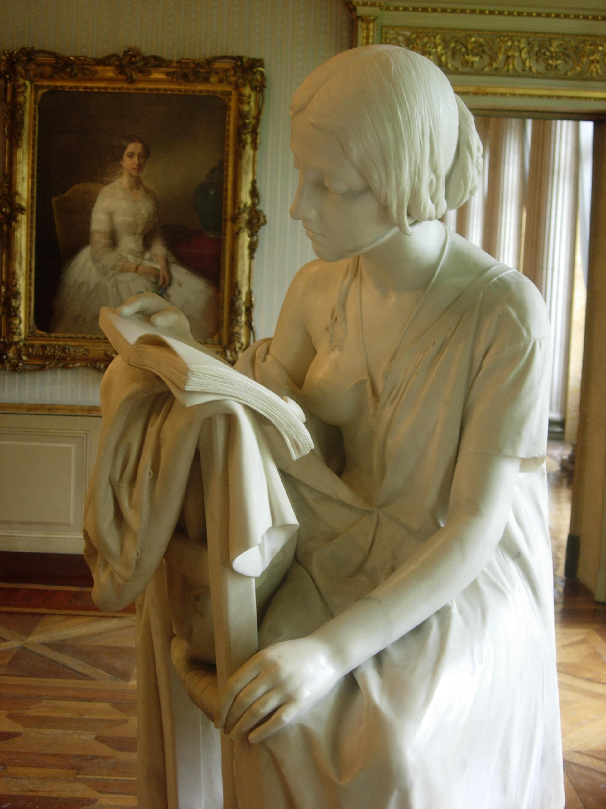 Pietro Magni, La Leggitrice, 1856