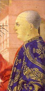 PIERO DELLA FRANCESCA, La Flagellazione di Cristo (part.), 1444-1470, olio su tavola, 59 x 81,5 cm, Urbino, Galleria Nazionale delle Marche