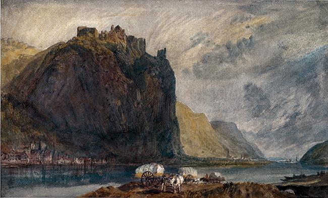 Joseph Mallord William Turner Hammerstein sotto Andernach Acquarello, cm 19,5 x 32 Johannesburg Art Gallery, Johannesburg