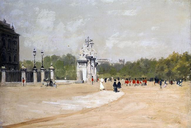 Giuseppe De Nittis, Buckingham Palace, olio su tela, 39 x 56 cm