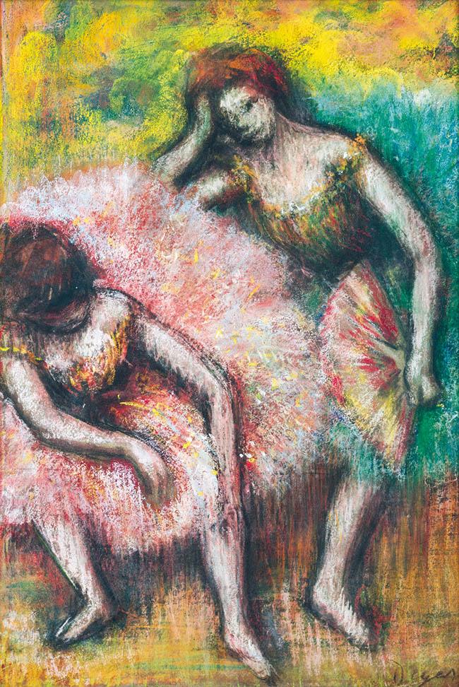 Edgar Hilaire Degas Due ballerine Pastello, cm 50 x35 Johannesburg Art Gallery, Johannesburg