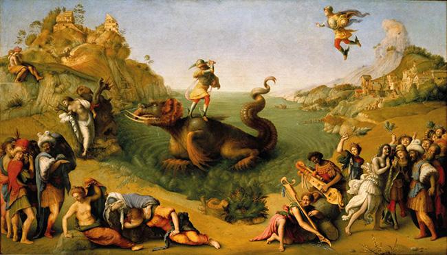 Piero di Cosimo: Andromeda liberata da Perseo, 1510 Firenze, Galleria degli Uffizi. Su concessione del Ministero dei beni e delle attività culturali e del turismo