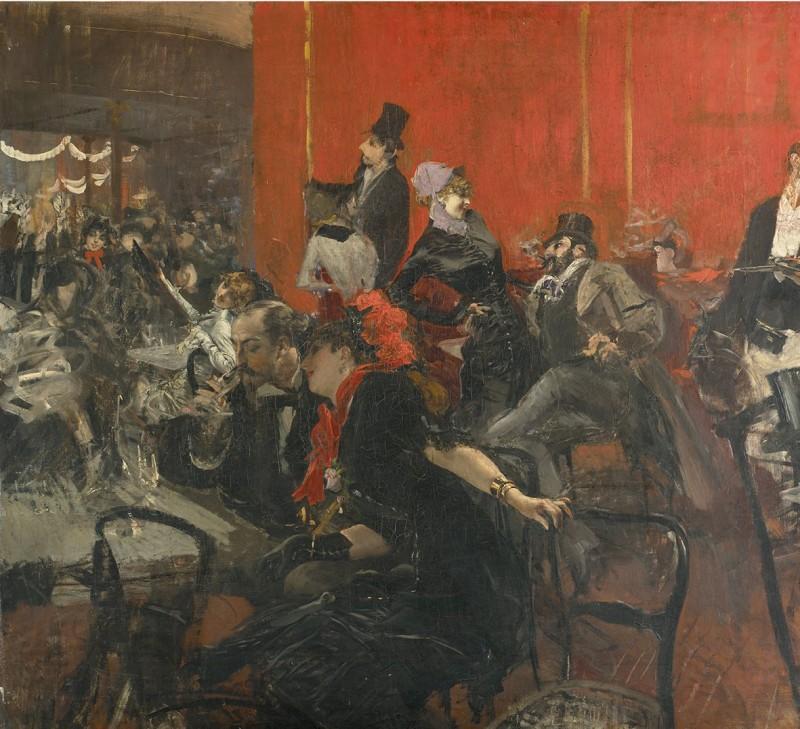 Giovanni Boldini, Scène de fête au Moulin-Rouge, 1889 ca., olio su tela. Parigi, Musée d'Orsay