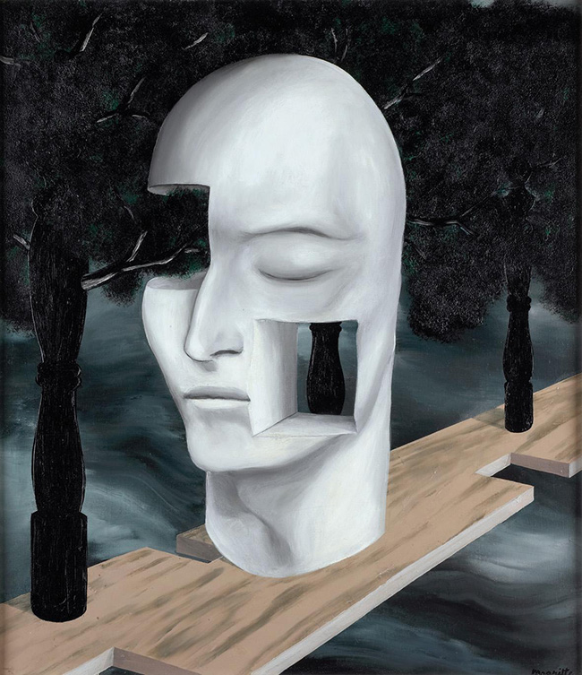 René Magritte: Il volto del genio, 1926 Bruxelles, Musée communal d'Ixelles © by SIAE 2015