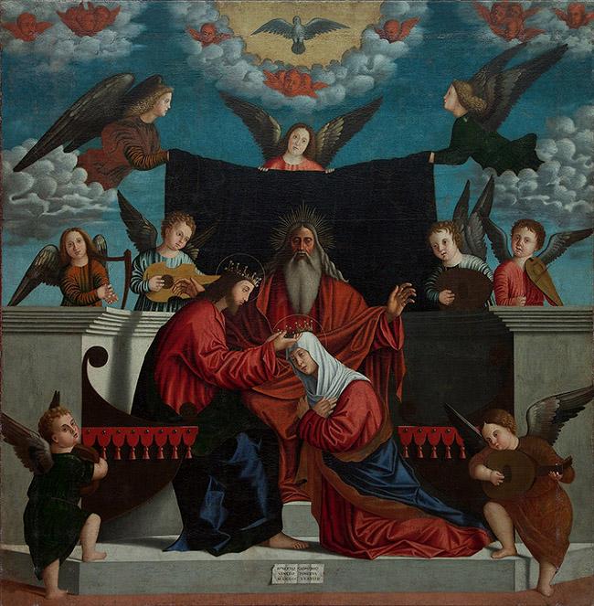 Benedetto Carpaccio Incoronazione della Vergine Museo Civico Sartorio,Trieste