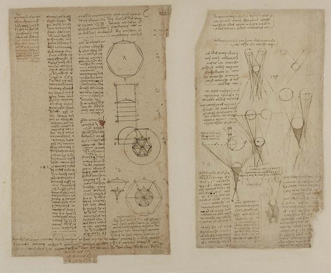 OMBRE E LUMI f. 625 a-r Studi su ombra e lume (SB) penna e inchiostro su carta mm 150 x 258 antica numerazione 119 C.A. f 625 a r (ex 229 r-b) Circa 1506-8.